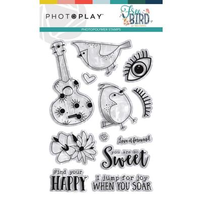 PhotoPlay Clear Stamps - Free BIrd