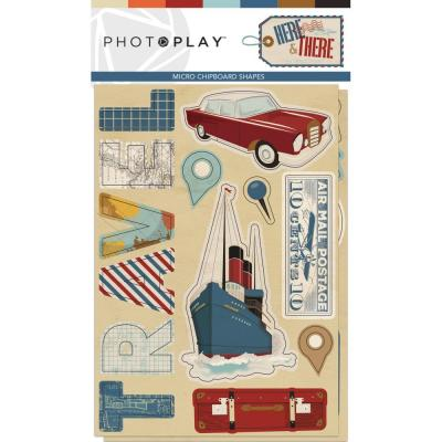 PhotoPlay Here & There - Chipboard