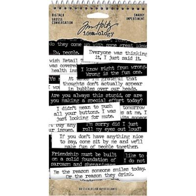 Idea-Ology Tim Holtz - Big Talk Stickers Tablet - Snarky