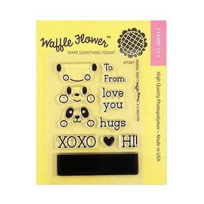 Waffle Flower Crafts Clearstamps - Animal Tags