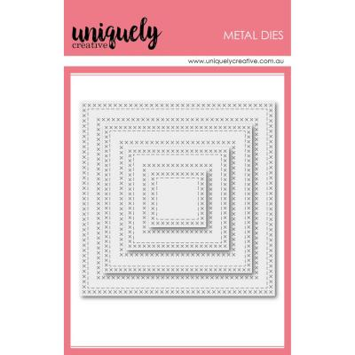 Uniquely Creative Metal Dies -   Cross Stitch Nesting Squares