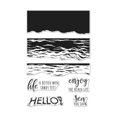 Hero Arts Cling Stamps - Waves