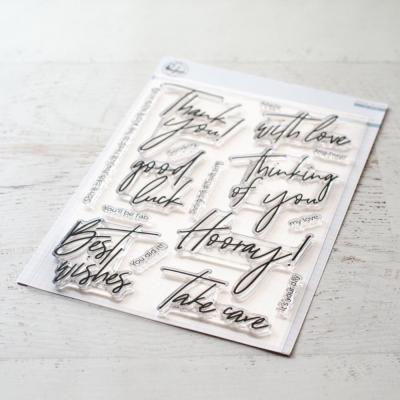 Pinkfresh Studio Clearstamps -  Scripted Bold Sentiments 1