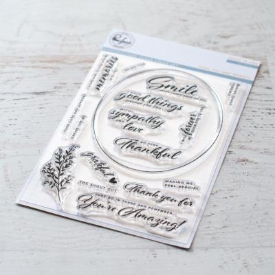 Pinkfresh Studio Clearstamps - Oval Foliage