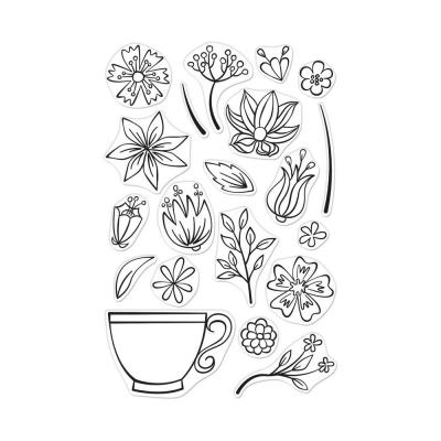 Hero Art Clearstamps - Teacup Flowers