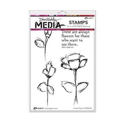Ranger Dina Wakley Cling Stamps - Always Flowers