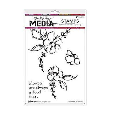 Ranger Dina Wakley Cling Stamp - Good Idea