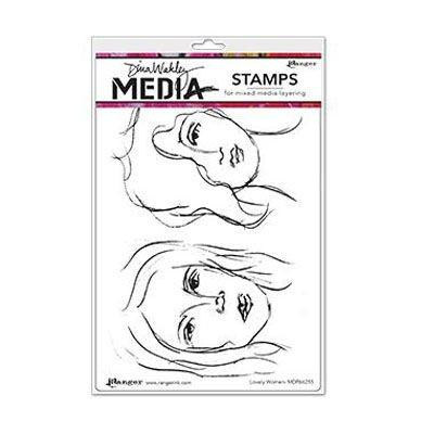 Ranger Dina Wakley Cling Stamps - Lovely Women