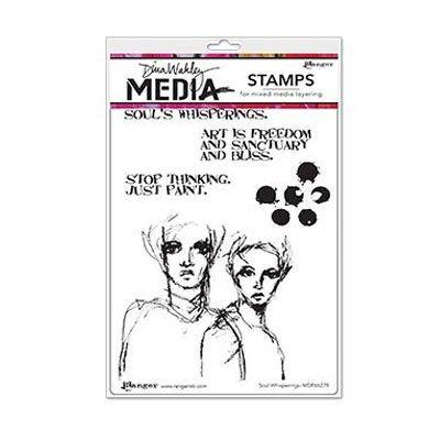 Ranger Dina Wakley Cling Stamps - Soul Whisperings
