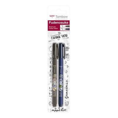 /Schwarz Tombow ws-bhs-2p fudenosuke harten und weichen Spitze Pinsel Pen/