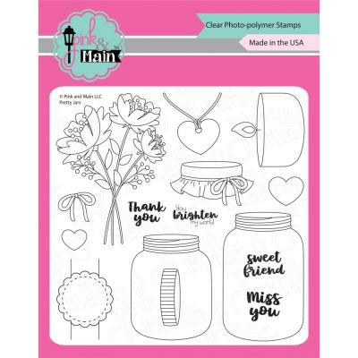 Pink & Main Clear Stamps - Pretty Jars