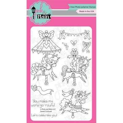Pink & Main Clear Stamps - Sweet Carousel