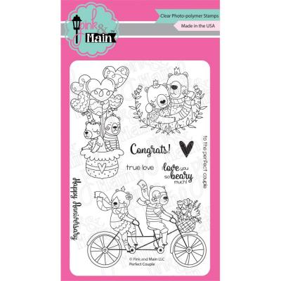 Pink & Main Clear Stamps - Perfect Couple