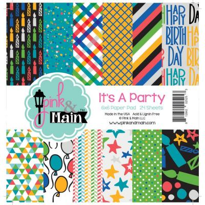 Pink & Main Paper Pad -  It's A Party