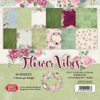 Craft&You Paper Pad - Flower Vibes