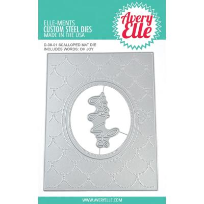 Avery Elle Outline-Stanzschablone - Scalloped Mat