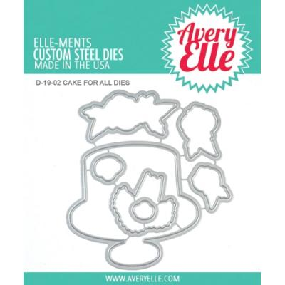 Avery Elle Outline-Stanzschablone - Cake For All