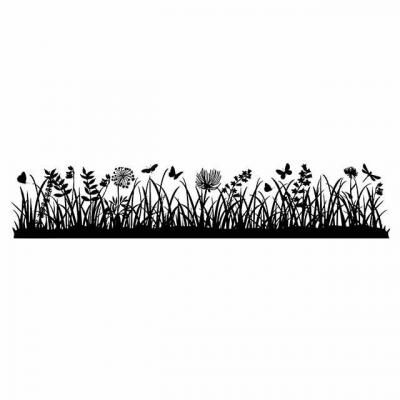 Stamperal Natural Rubber Stamp  - Meadow