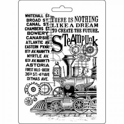Stamperia Soft Maxi Mould - Steampunk Train