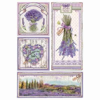 Stamperia Rice Paper A4 - Provence Frames