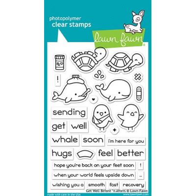 Lawn Fawn Clear Stamps - Get Well Before 'n Afters