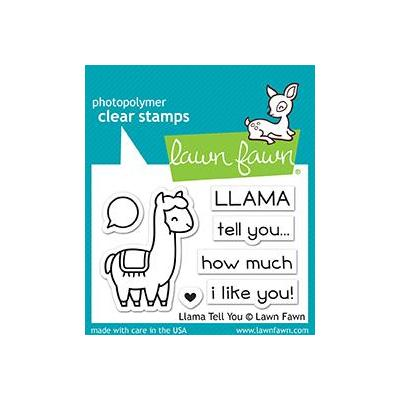 Lawn Fawn Clear Stamps - LLama Tell You