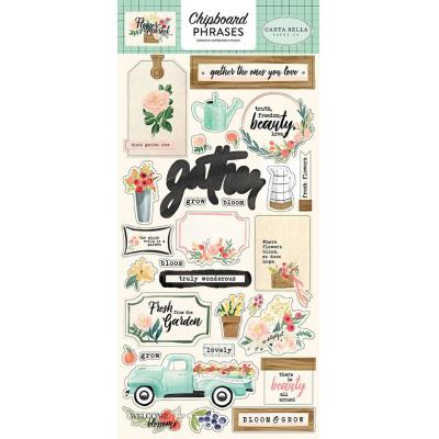 Carta Bella Flower Market - Chipboard Phrases