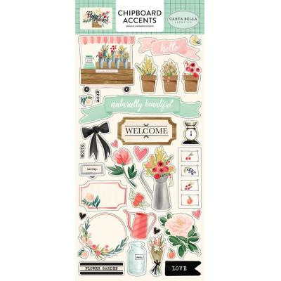 Carta Bella Flower Market Sticker - Chipboard Accents