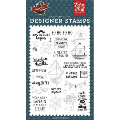 Echo Park Clear Stamps Pirate Tales - Land Ho
