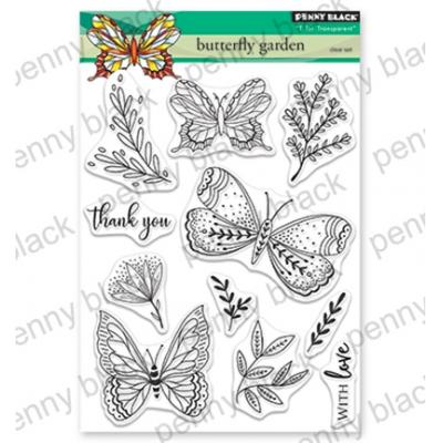 Penny Black Clear Stamps - Butterfly Garden