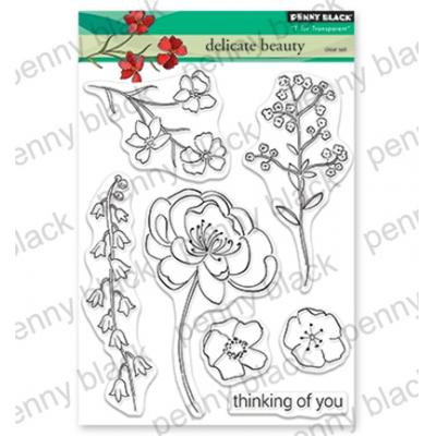 Penny Black Clear Stamps - Delicate Beauty