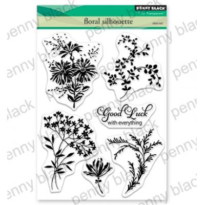 Penny Black Clear Stamps - Floral Silhouette