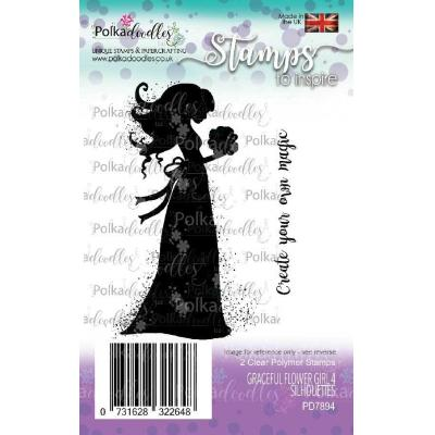 Polkadoodles Clear Stamps - Graceful Flower Girl 4 Silhouettes
