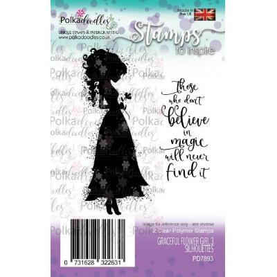 Polkadoodles Clear Stamps - Graceful Flower Girl 3 Silhouettes