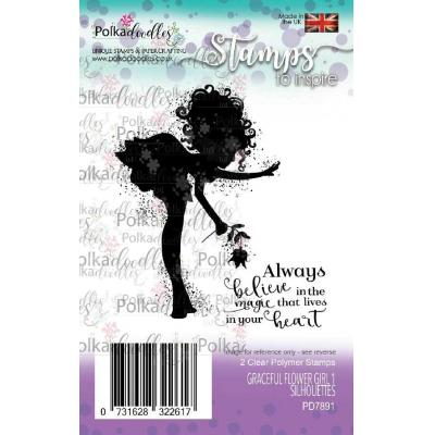 Polkadoodles Clear Stamps - Graceful Flower Girl 1 Silhouettes