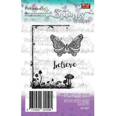 Polkadoodles Clear Stamps - Butterfly Believe