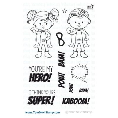 Your Next Stamp Clear Stamps - Little Darling Super Heroes