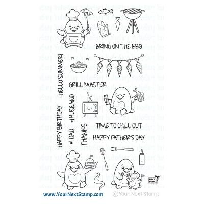 Your Next Stamp Clear Stamps - Waddles  Bring on the BBQ