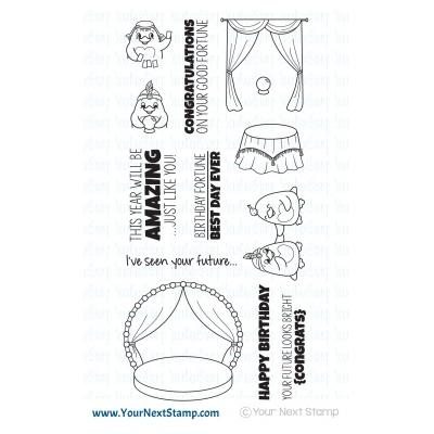 Your Next Stamp Clear Stamps -  Waddles - Fortune Teller