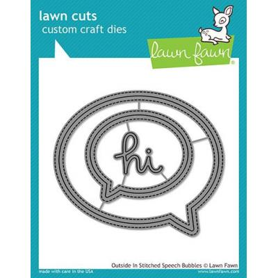 Lawn Cuts Stanzschablonen - Outside In Stitched Speech Bubbles