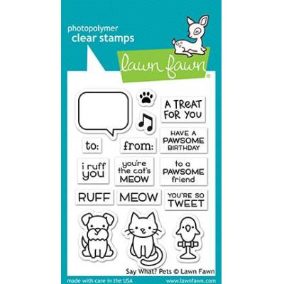 Lawn Fawn Clear Stamps - Say What? Pets