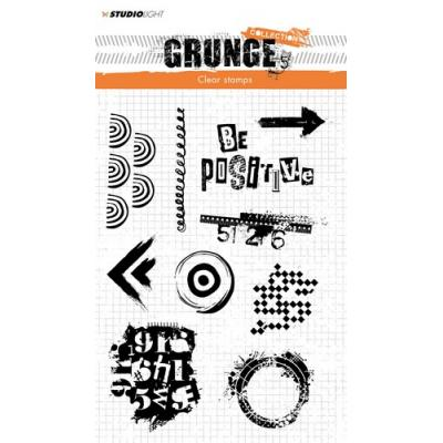 StudioLight Clear Stamps - Grunge - Be Positive