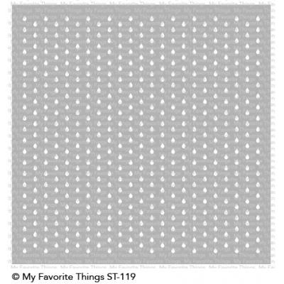 My Favorite Things - Mini Staggered Raindrops Stencil