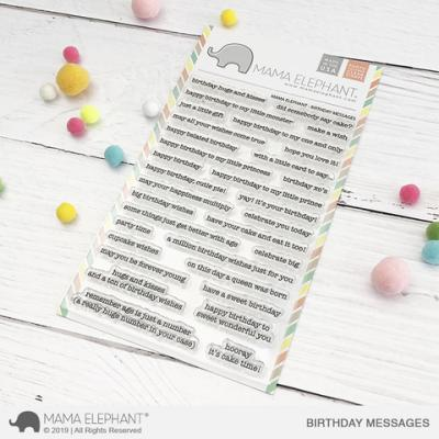 Mama Elephant Stempel - Birthday Messages