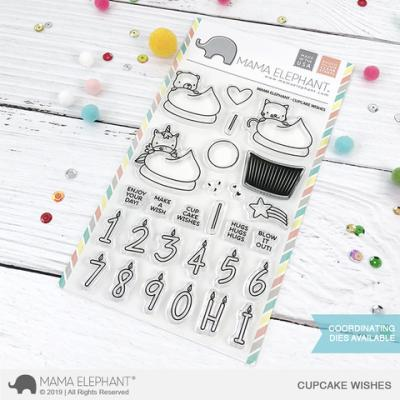 Mama Elephant Stempel - Cupcake Wishes