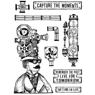 Stamperal Natural Rubber Stamp - Steampunk News