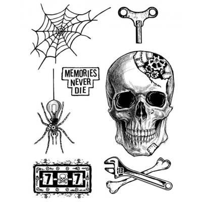 Stamperal Natural Rubber Stamp - Memories Never Die