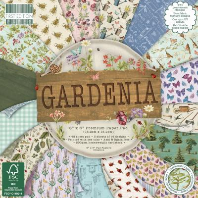 First Edition Paper Pad  6x6 Inch -  Gardenia
