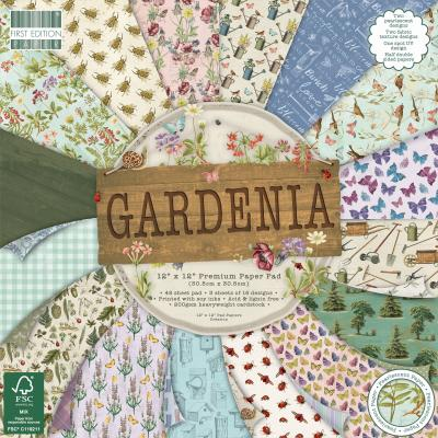 First Edition Paper Pad  12x12 Inch - Gardenia