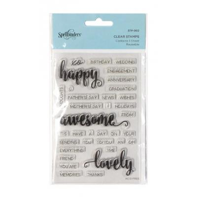 Spellbinders Clear Stamps - Happy Sentiments